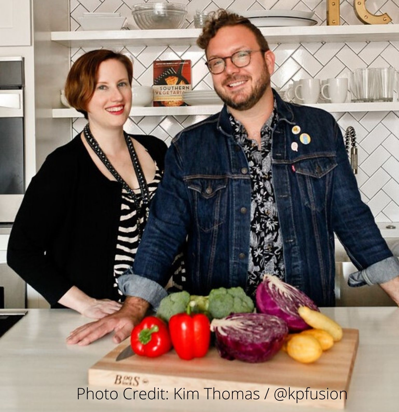 A Cooking Demo with Justin Fox Burks + Amy Lawrence  from their newly published  Low Carb Vegetarian Cookbook